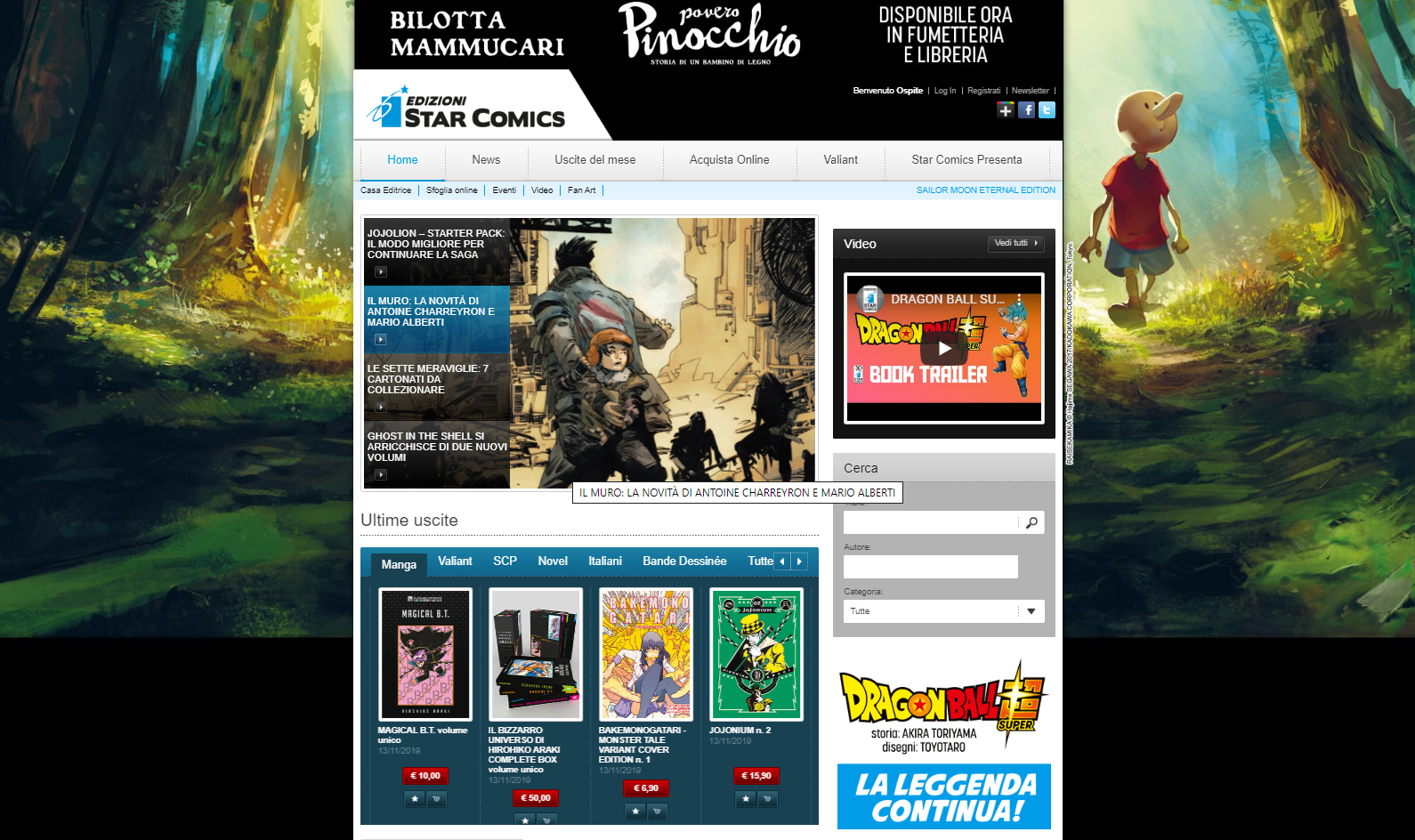 Web agency: sito star comics