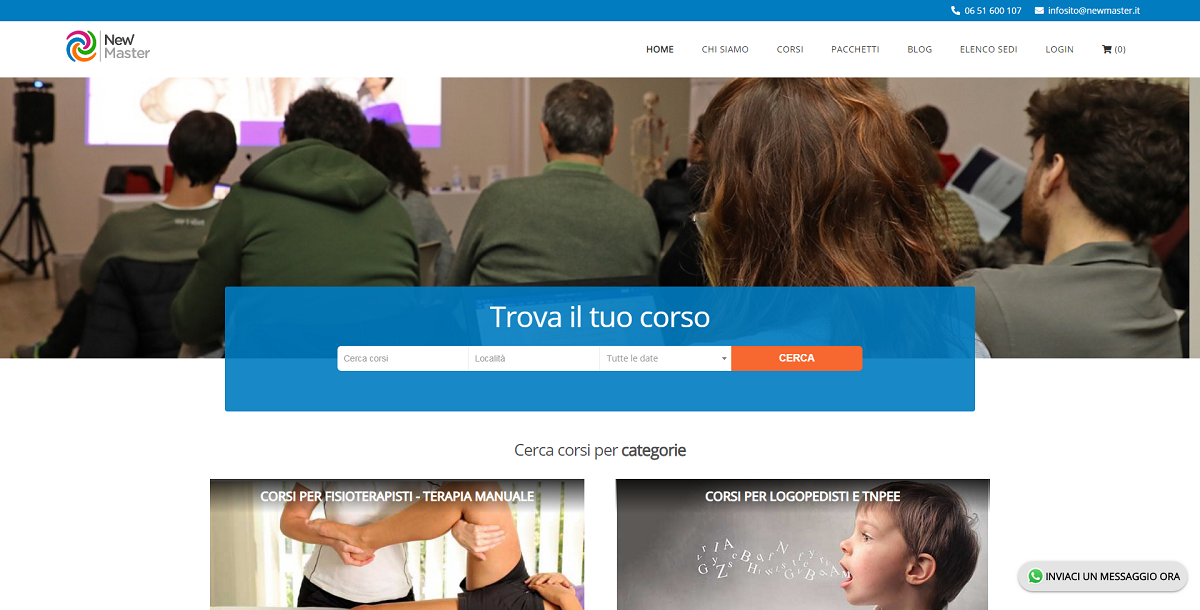 Sito E-Commerce New Master